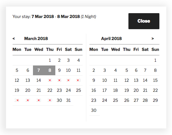 Enhanced Calendar - Datepicker