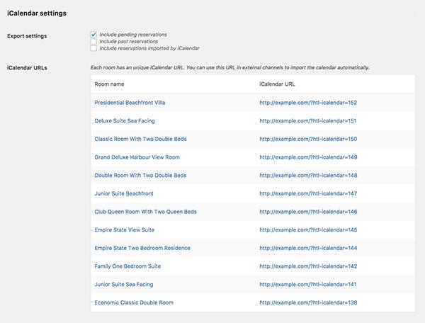iCalendar Importer/Exporter - Export settings